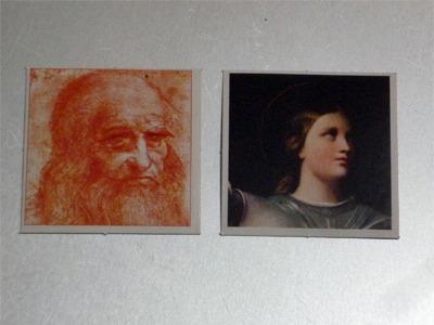 レオナルド・ダ・ヴィンチとジャンヌ・ダルク。