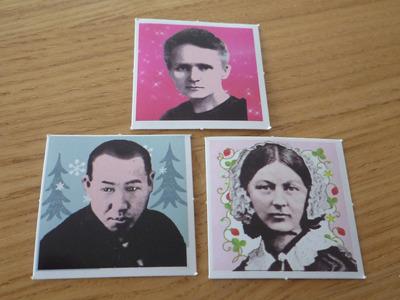 なんかガーリーとかそんな感じの3枚。キュリー夫人・宮沢賢治・ナイチンゲール。