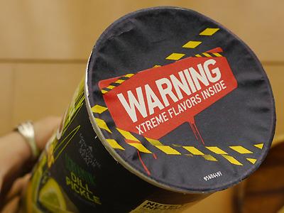 エクストリーム系のパッケージはシールに注意喚起が(エクストリームフレーバーが入っているから気をつけろ!)。