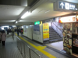銀座線浅草駅なら改札を出てちょっといったところに入口があります。