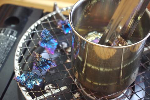 まるで揚げた天ぷらを取り出すごとし。