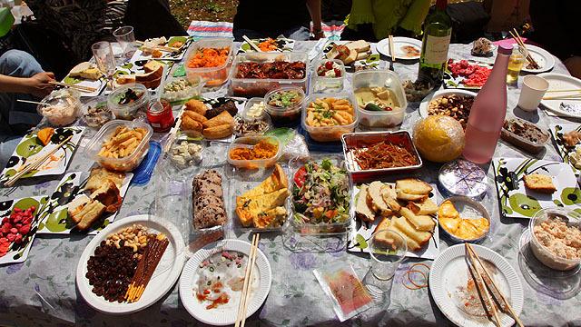 最も料理が凝っていたのは日比谷公園のグループでした。