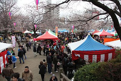 今年は3/31と4/1に開催されたさくらSA*KASO祭りも飛鳥山の見所。