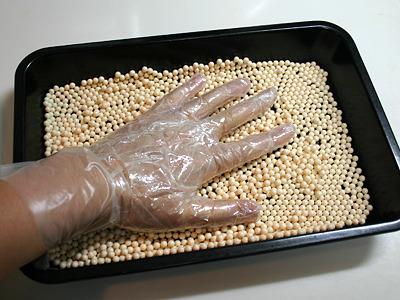 手を濡らしてレッツ・ゴー。