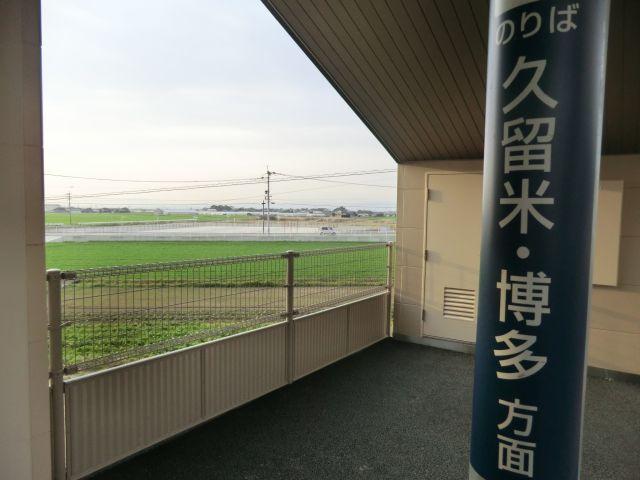 右を見ても左を見ても何も無し。新幹線に乗りながら無の境地を体感できるぞ。