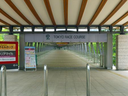駅と競馬場を直結する通路