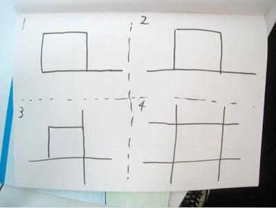 左上から、1級、2級、3級、4級。級数は出口の数。