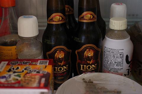 冷蔵庫の奥に佇むライオンたち。