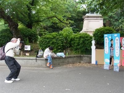 写真だけ撮る外国人はいた。(ハマっているのは友人)