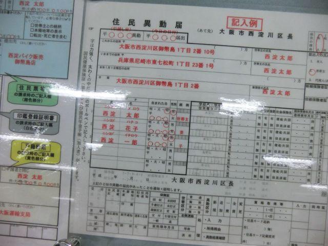 西淀川区での届け出の例も「西淀太郎」なのだ。