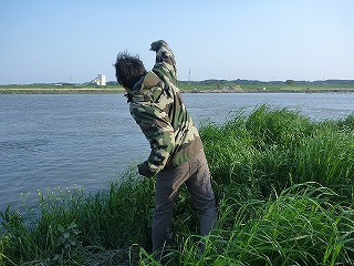 川に向かってマッシュポテトを投げる日が来るとは…。
