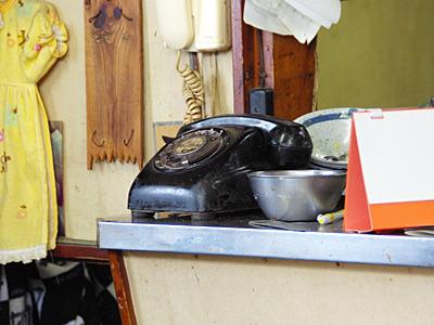 昨日私が営業確認のために掛けた電話が、この黒電話に掛かったのかと思うと感慨深い。