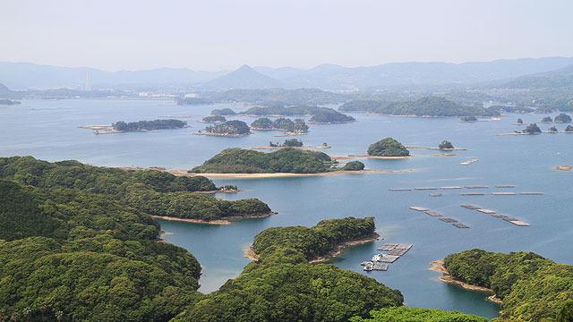 美しい九十九島の景観。