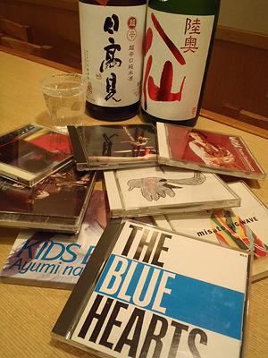 店主自ら古いCDかき集めてプレゼンに参加。イベントタイトルは全部パクリ。