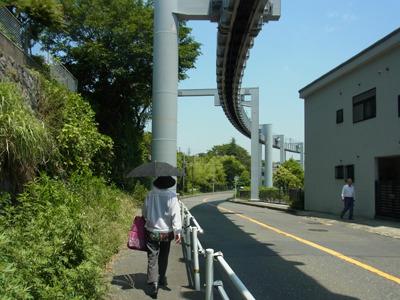 鎌倉山に登っていく