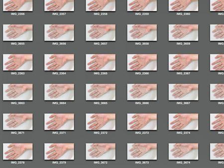 画像管理ソフトの中が自分の手だらけ