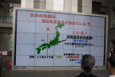 日本の時刻を決めているのは明石ではなく、小金井