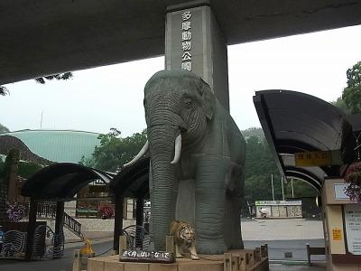 巨大な象がお出迎え