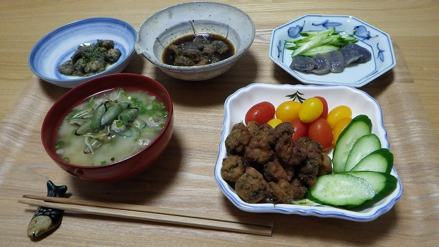 ワケノシンノスづくし(+メカジャの味噌汁)!