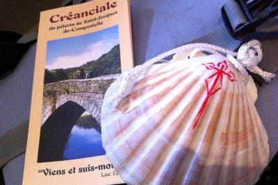巡礼手帳とホタテ貝