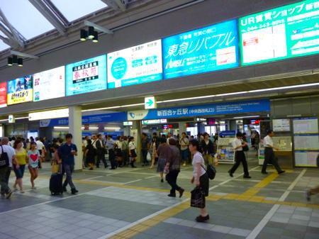 新百合ケ丘駅から歩く