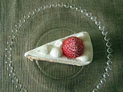 この三角形、まさしく、ケーキ