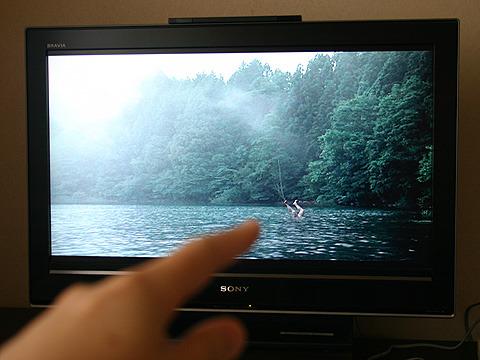これが有名な「湖面の死体」のシーン。意外と小さい。