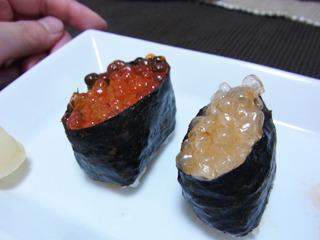 紅白イクラ寿司