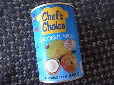 まずはココナツミルクを買ってきて