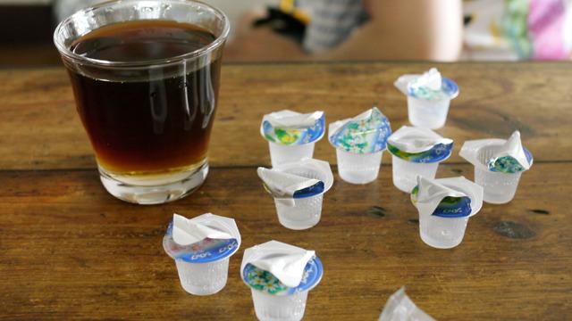ガムシロップ9個入りアイスコーヒー