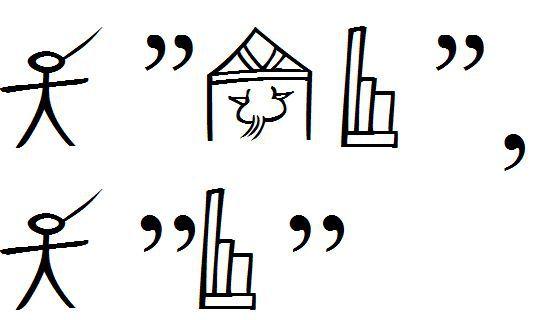 """直訳すれば『人が言った「隣の家に屏」、人が言う「へえ」』 文法はわからない。まず """" とか , はない。"""