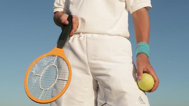 蚊なんて殺してないで、テニスしようぜ、テニス!