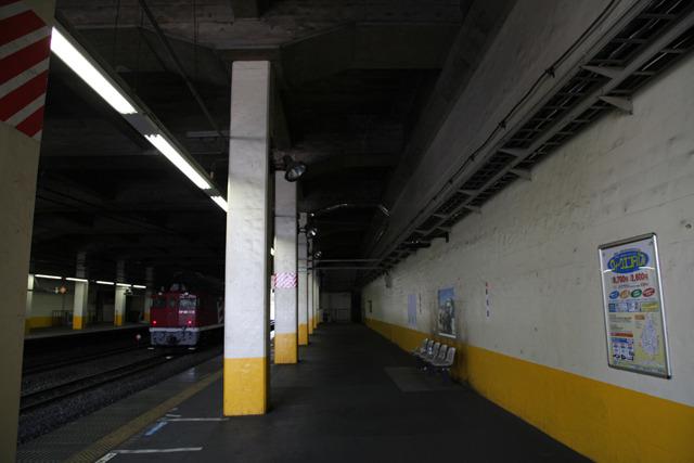 壁の色は駅によって違うようだ(新秋津駅)