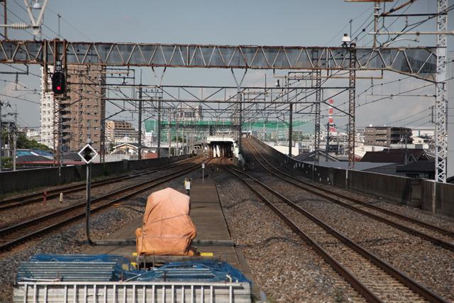 高架からさらに上がってオーバークロス(西浦和駅)