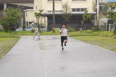 台風時に50M走ったら速くなるのか