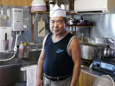 こちらが店長の川田さん。奥様いわく「もうね、すごいアイデアマンなのよ~」とのこと。