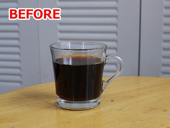ろ紙を通したドリップコーヒー