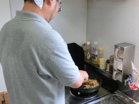 冷えた時を考慮して、できるだけ油少なめで調理