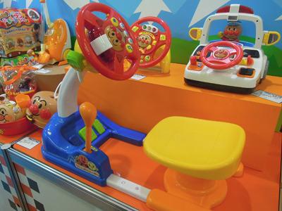 アンパンマンの運転席のおもちゃ