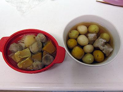 こうして2つのイモ料理が完成した。