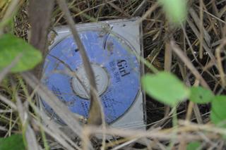 徳永英明さんのCDがぽつんと落ちていた。