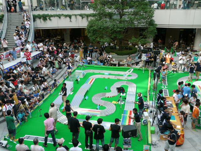 そしてジャパンカップ開幕。このコースを5人で走り、1位が予選突破となる。