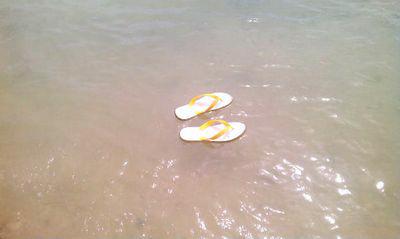 島ぞうりで水の上に立てるのか!?