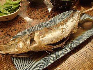 魚関係の料理も佐々木さんの担当。こちらは魚の梅煮。