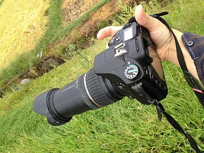 このカメラとレンズで撮影にチャレンジ。