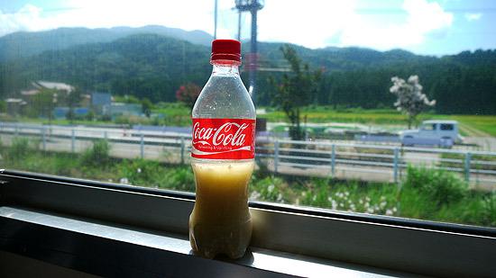 電車で飲むタラ汁は格別だった
