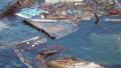 台風の爪痕は川にも。
