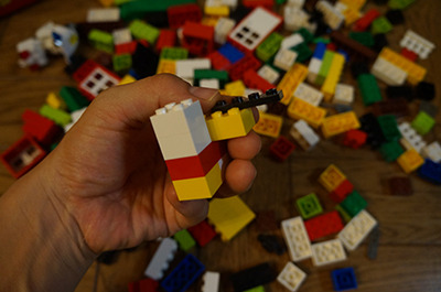そして気づけばわっせわっせとただブロックを塊にしていた