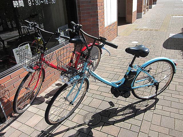 人生初の電動アシスト自転車である。
