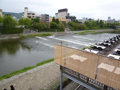 鴨川&河床。もう寒い季節ですが。